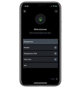Loxone Bleuchtung App Steuerung