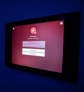Loxone Sicherheitseinstellung via Tablet