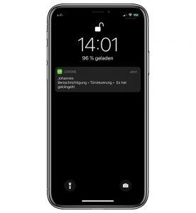 Loxone Zutritt per App