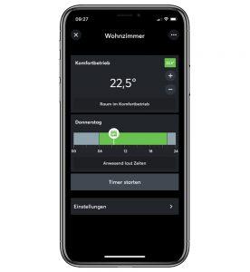 Loxone Klimasteuerung in der App